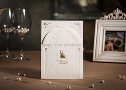 Low Price 3D Bride and groom romantic wedding invitation card