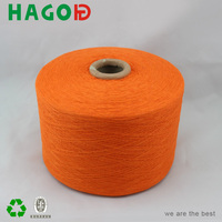 ne6s/1 bleach white carded blended recycled cotton yarn