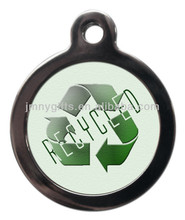 printing custom logo with qr code dog tags