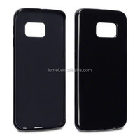 Black TPU Gel Rubber Case for Samsung Galaxy S6 Edge