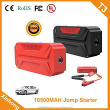 16500mah 12V 24V 600A ce fcc rohs approved cycle life 3000 times lithium battery car battery booster