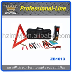 9PCS Auto emergency tool kit in a bag