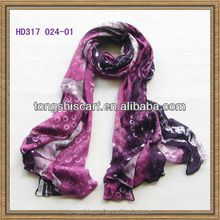 HD317 -024 scarf printing Tongshi supplier viscose scarf wide shawls 100% viscose pashmina scarf