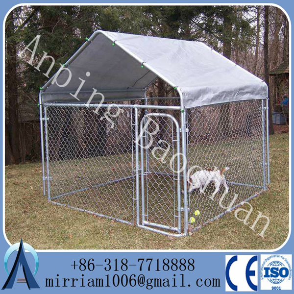 Hot sale high quality big cheap chain link dog kennels for Cheap dog kennels for large dogs