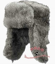 Made in China best selling 100% rabbit fur winter Russian male hat for men