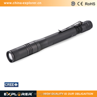 focus adjustment pen style led mini torch flashlight