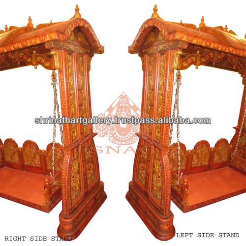 Made in india wooden antique mughal style swing home and Handicraft things for home decoration