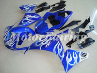 for yamaha 2010 yzf motorcycle r1 body kit 09 R1 bodykit 09-10 r1 2010 r1 fairing 09 r1 10 yzf 1 2010 r1 fairing red flame blue