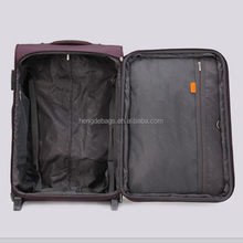 Latest branded stylish printed pc/abs wheeled luggage