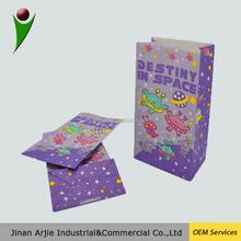 Cheap Brown custom printed take-away food packaging paper bag