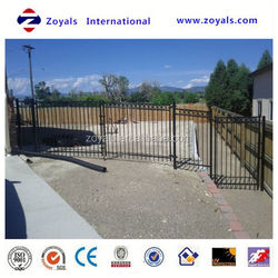 aluminum ornamental gates and fences manufacturer with ISO 9001