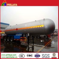 2-4 Axles LPG Gas Bullet Tank Trailer With Volume 25-60M3 Optional