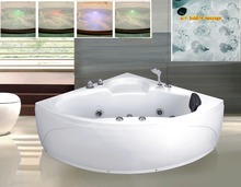 AUTME Massage Bathtub Indoor Whirlpool Bathtub with Tempered Glass150*150 Cheap Price Good Quality