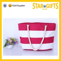 2015 Alibaba China durable shopping tote bag by cotton polyester fabric