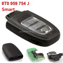 Car Key Car Smart Card for Audi 3 Button 315MHz 8T0 959 754 J Auto Smart Key Remote Key