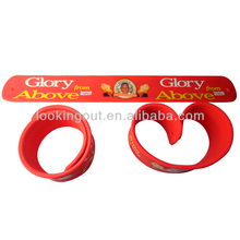 china first class quality advertising logo custom bracelet