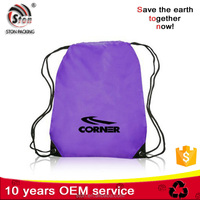 Promotional customized nylon Polyester Drawstring Shoes Bag, 210D polyester tote bag