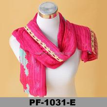Womens Paris Neck inner stole Scarf Wrap pink Muffler warmer scarf Viscose korea muffler scarf