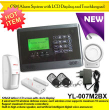2012 new 99 wireless zones Security system GSM alam system YL-007M2BX