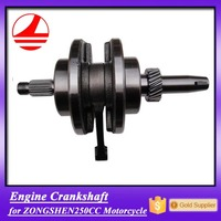 China genuine engine parts motorcycle zongshen 250cc crankshaft