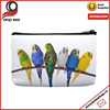 Beautyful Parrots Small Cosmetic Bag Wristlet Lovely Big