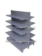 góndola estanterías / de supermercado utilizadas metálicas , estantes de salón de belleza HSX-S86