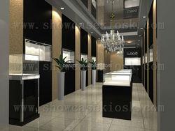 jewelry store furniture, jewelry display showcase store, custom jewelry store