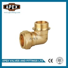 """High Quality Wholesales Price APEX Forged 15mm*1/2"""" Brass Compression Male Elbow"""