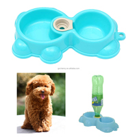 Good Quality Pet Dog Puppy Automatic Water Dispenser Food Dish Feeder 2 Bowls Fountains Convenient For Pet