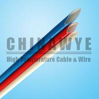 Fiberglass insulation silicone rubber cable sleeve 600v
