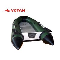 PVC or Hypalon Inflatable Boat for Sale 2.7m, 3 person with Aluminum, Air deck Floor