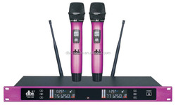 one receiver and two mic cheap wireless microphone LWM2800