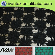 Fashion new design nice t/r rib sequin embroidery lace fabric