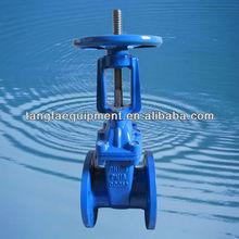 DN250 rising stem epoxy coated gate valve DIN F4