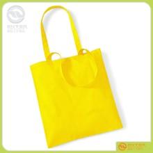Promotional new style custom printed yellow pure organic cotton bag tote bag should bag