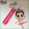 Custom 3d cartoon soft pvc keychain for prmotion gifts