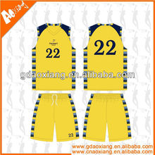 A-league quality Sublimation Newly Basketball practice shirt/short