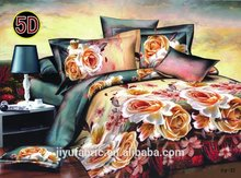 100% polyester 3D india market quilt cover