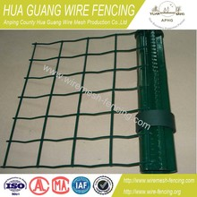 Cheap Green PVC Coated Metal Safety Guard Euro Fe /Garden Fence (Euro fence) for Europe Market (20 years' factory)enc