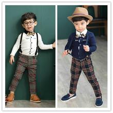 Infantil chicos ropa camisas de Polo simple rejilla trajes fija por mayor de China