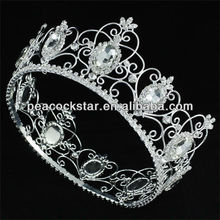 Wholesale Royal Pageant Full Circle Tiara Crystal King / Queen Crown CT1721