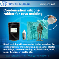 double component silicone rubber for melting point alloy molds