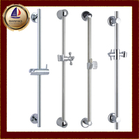Qianyao chrome Stainless Steel Bathroom Faucet Accessory holder OEM sliding bar & shower head holder