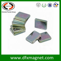 color zinc coating magnetic block for children