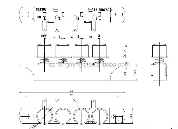 piano key switch power push button switch mechanical keyboard