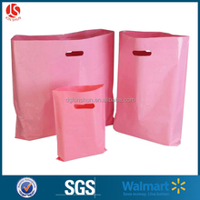 eco-friendly pink shoes packing printed die cut shopping bag