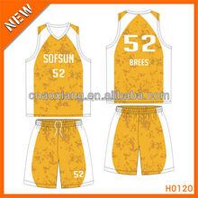 H0120 printing type new style custom basketball jersey set 2015