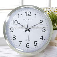 Chrome plating large wall clock for elderly