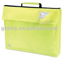 600D waterproof polyester conference book bag with PVC window
