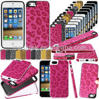 Mobile phone case Leopard pc hard case for iphone 5c ultra thin ,pc hard case for iphone 5 5s 6 6s